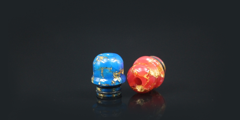 510 Golden Mix Colored Narrow Bore Funnel Drip Tip 2