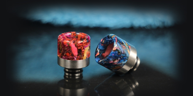 510 Stainless Steel Stable Wood Resin Drip Tip 1