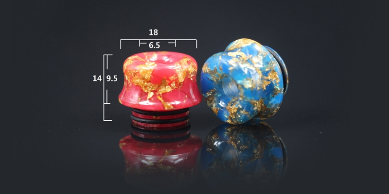 810 Thread Milk Head Starry Sky Epoxy Resin Drip Tip