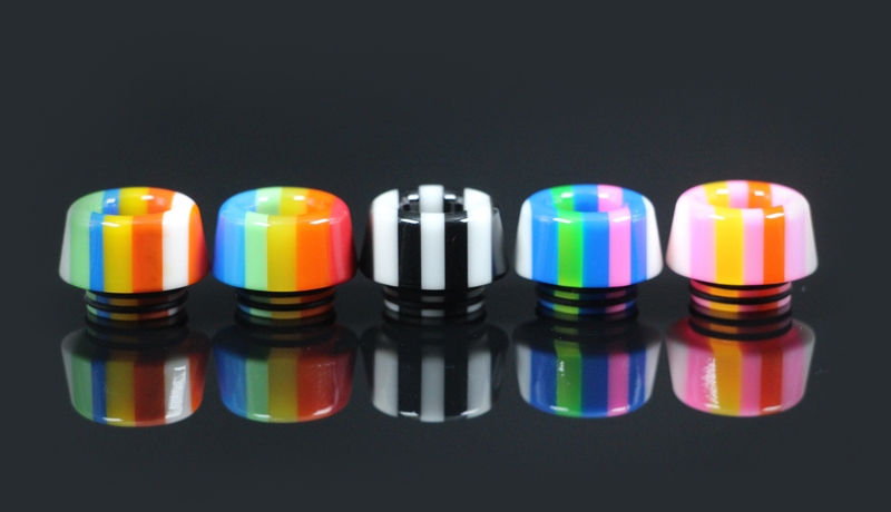 810 Thread Rainbow Mushroom Resin Drip Tip
