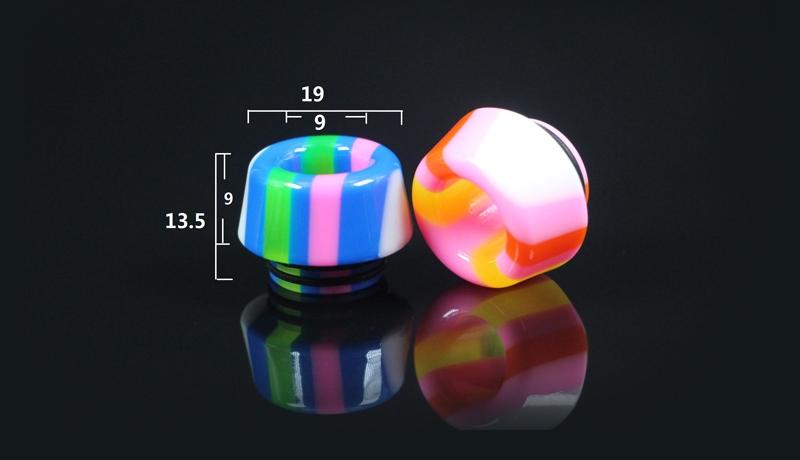 810 Thread Rainbow Mushroom Resin Drip Tip