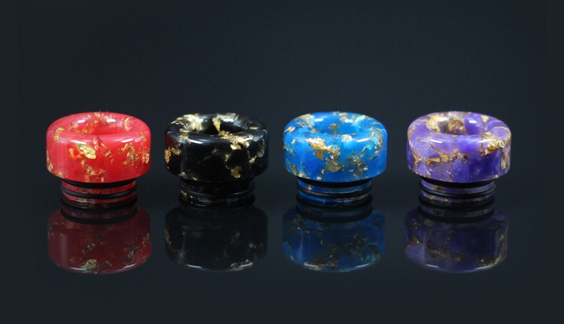 810 Thread Round Style Starry Sky Drip Tip
