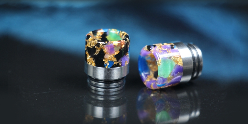 810 Wide Bore Stainless Steel & Star Colored Drip Tip