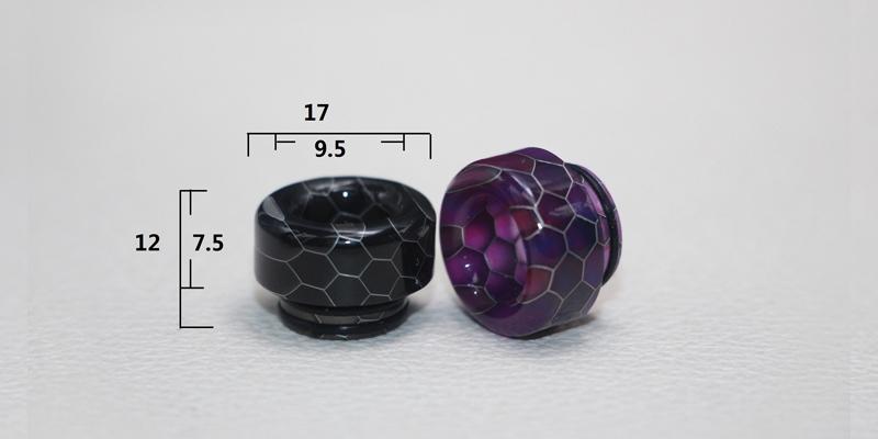 TFV8 810 Resin Snake Skin O-ring Drip Tip