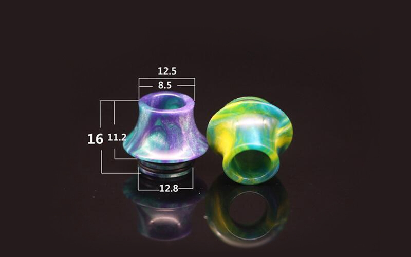 TFV8 810 Thread Cone Resin Wide Bore Drip Tip