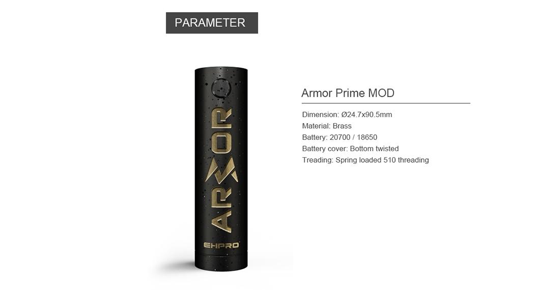 Ehpro Armor Prime Mod Parameter