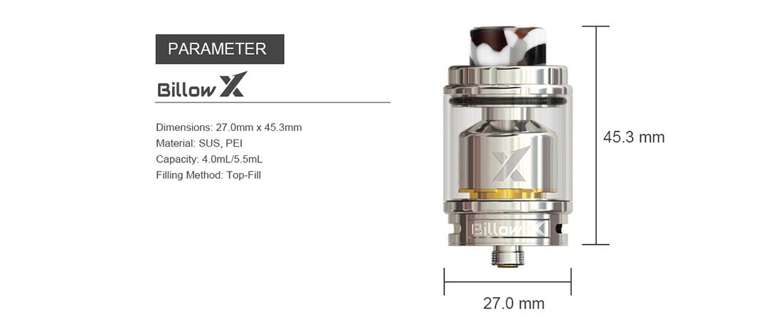 Ehpro Billow X RTA Parameter