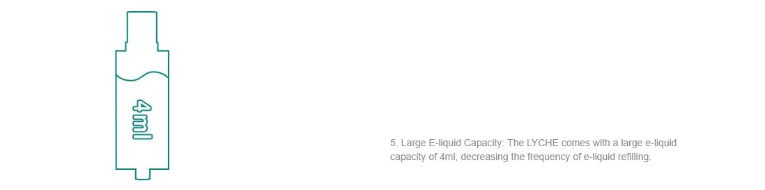 Eleaf LYCHE Atomizer Capacity