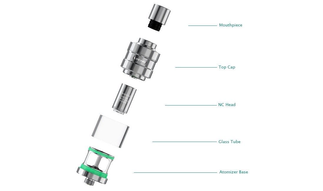 Eleaf LYCHE Atomizer with RBA Head Components