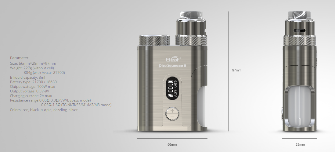 Pico Squeeze 2 Kit Parameters