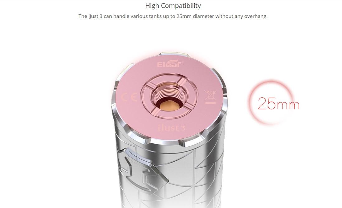Eleaf iJust 3 Battery 3000mAh Compatibility