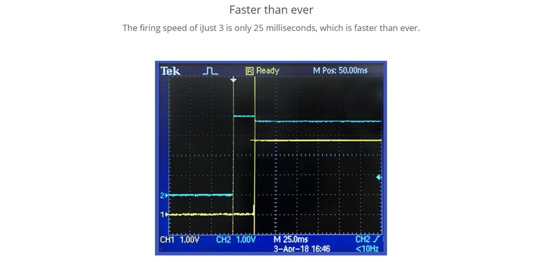 Eleaf iJust 3 Battery 3000mAh Firing Speed