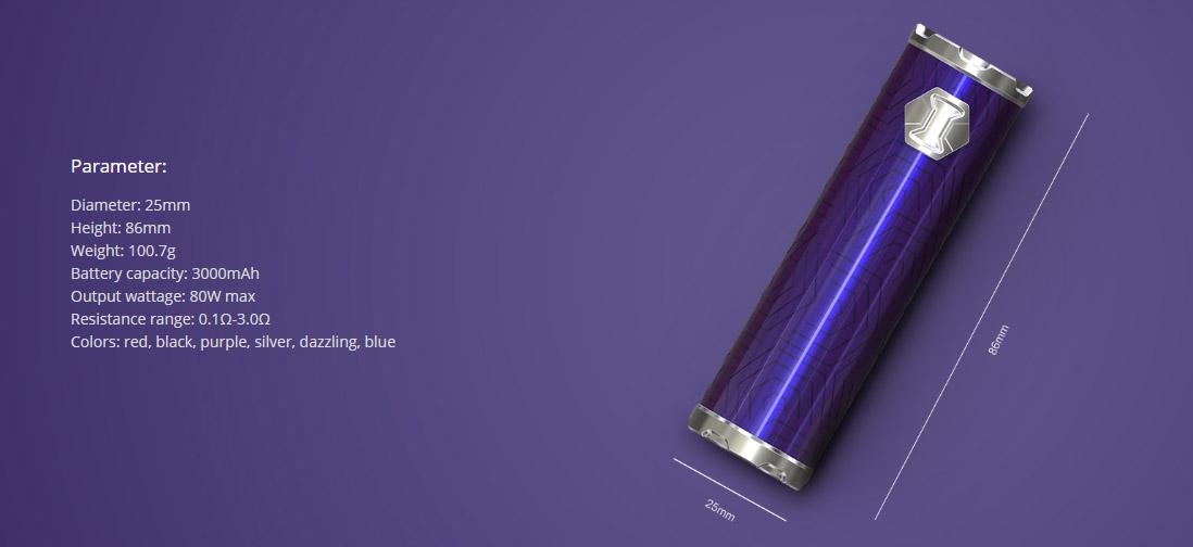 Eleaf iJust 3 Battery 3000mAh Parameters