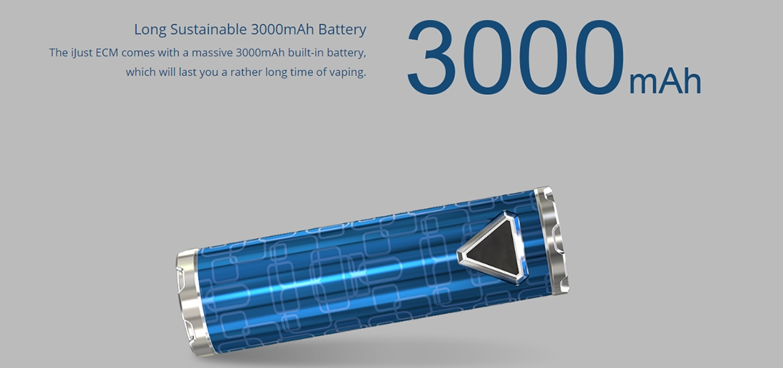 Eleaf iJust ECM Battery Capacity