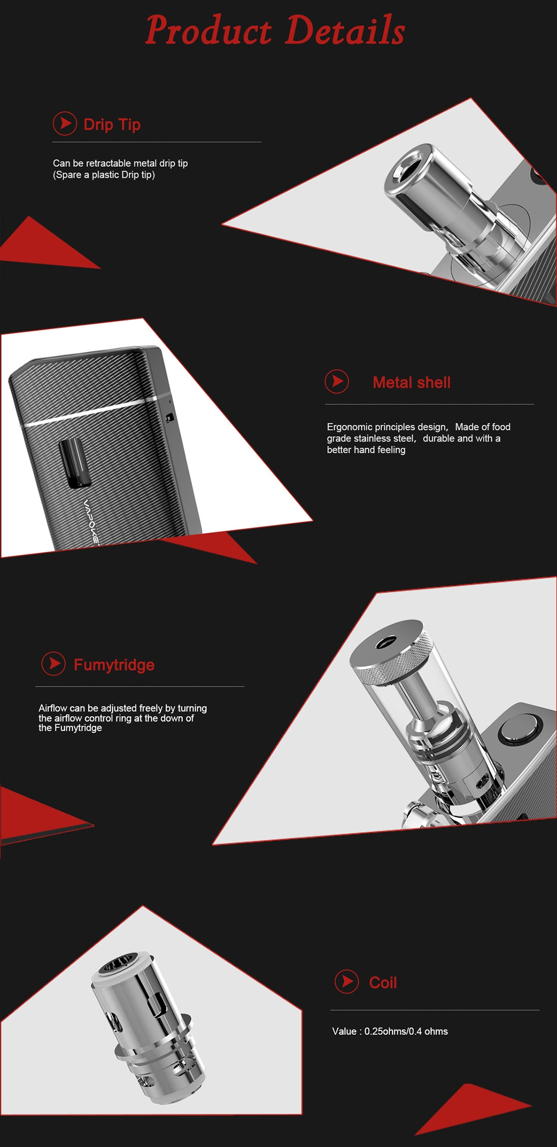 Fumytech Vapoket Kit Features