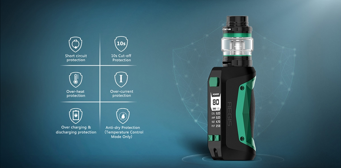 GeekVape Aegis Mini Safety Features