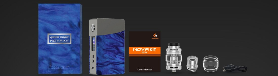 Geekvape Nova Kit Flat Resin Packing List
