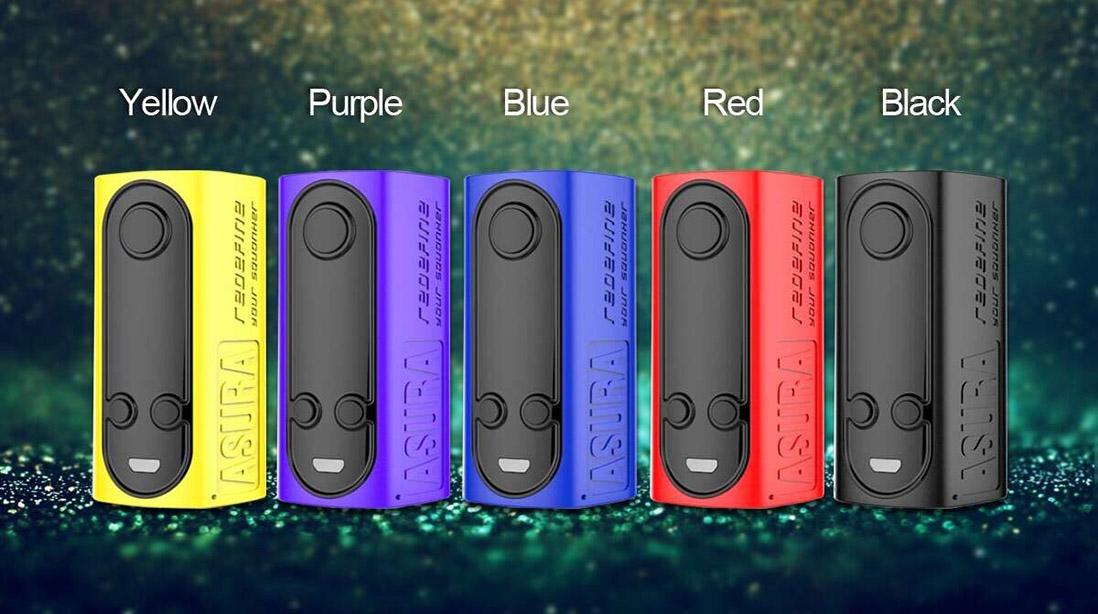 Hugo Vapor Asura 228W 2-in-1 TC Box & Squonk Mod Colors