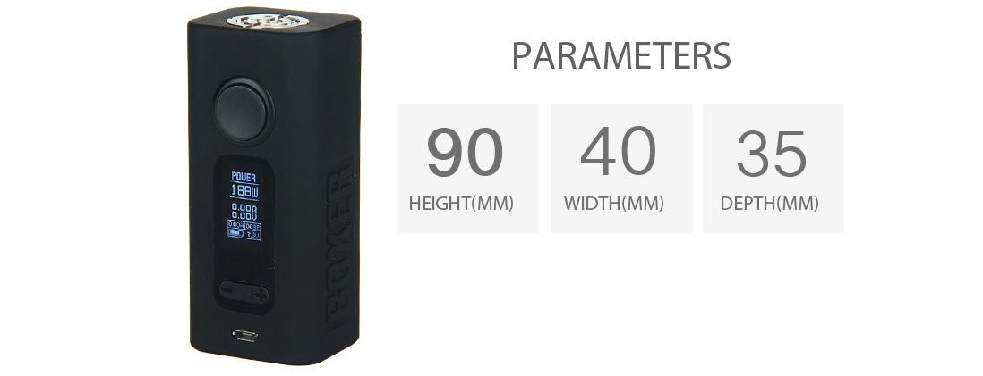 Hugo Vapor BOXER V2.0 188W Mod Parameter