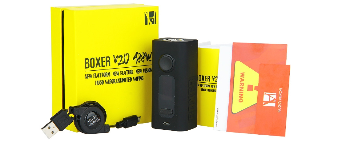 Hugo Vapor BOXER V2.0 188W Mod Packing List