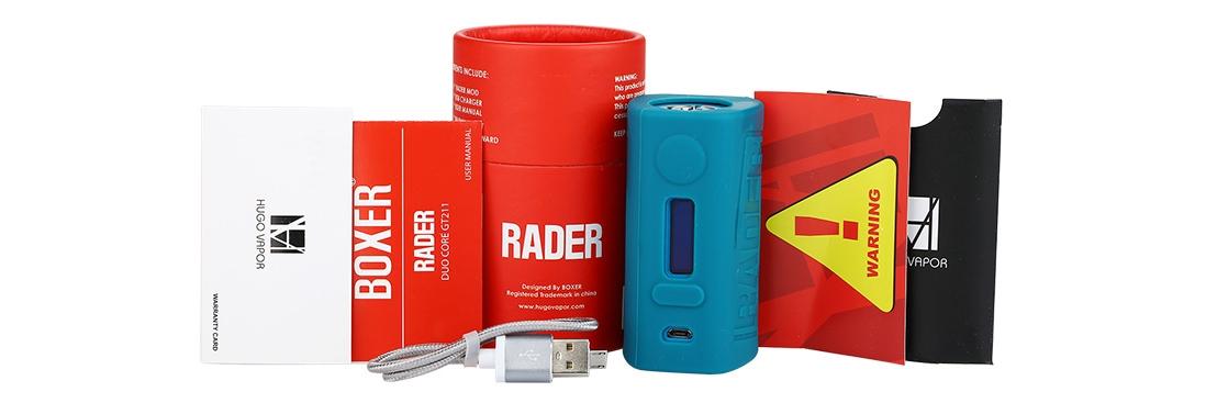 Hugo Vapor Boxer Rader 211W Mod Packing List