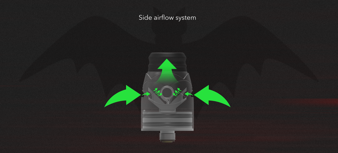 Hugsvape Theseus RDA side airflow