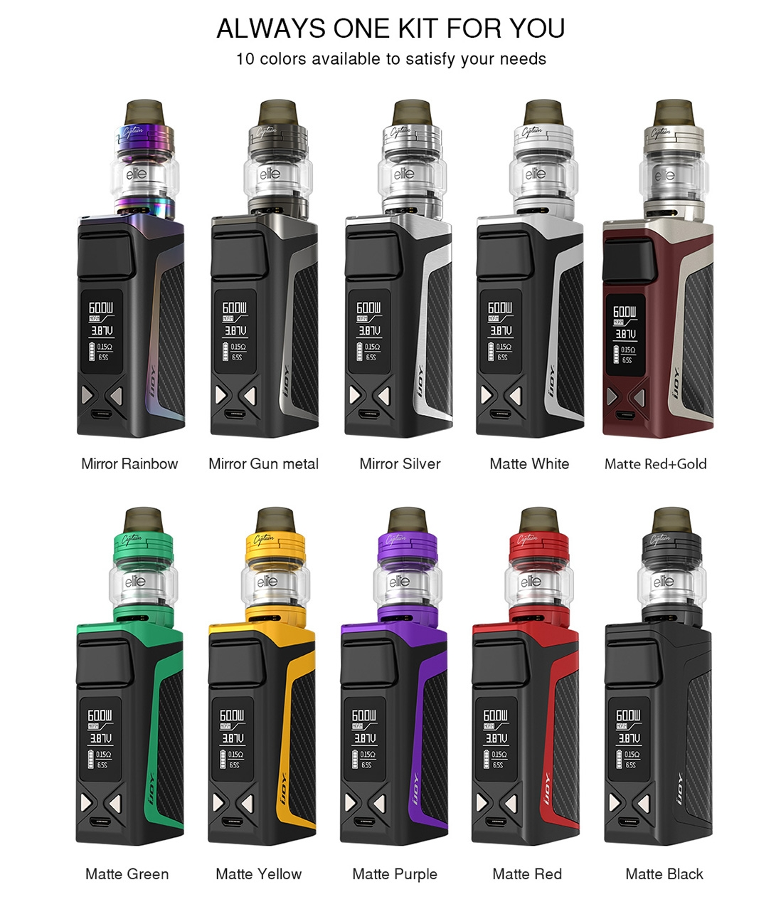 IJOY Elite Mini Kit Colors