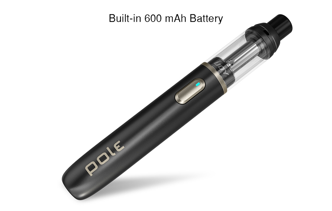IJOY POLE Pod Kit Features built-in battery with 600mAh Capacity