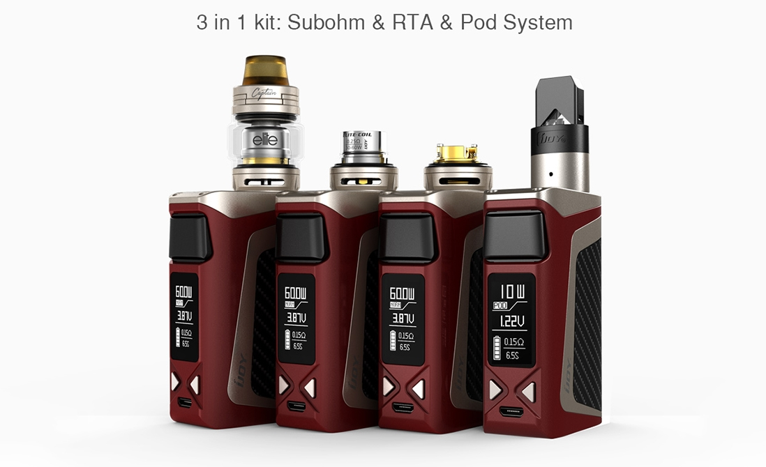 iJoy Elite Mini Kit Features 3 in 1 system