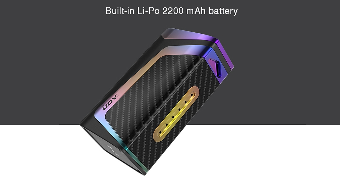 IJOY Elite Mini Kit Vape Mod Features built-in Li-Po 2200mAh Battery