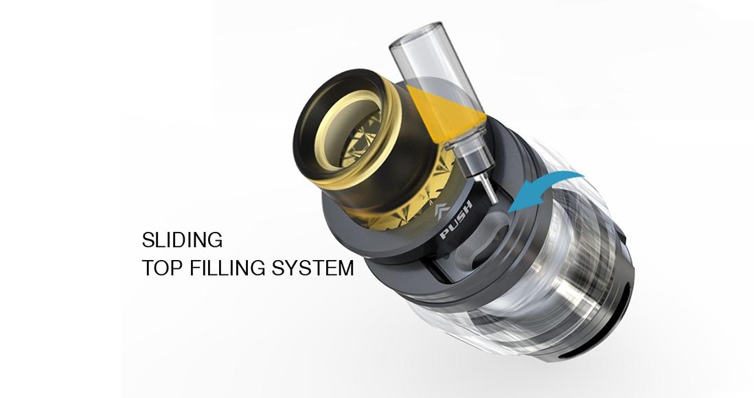 IJOY Elite Mini Kit Vape Tank Features Sliding Top Filling System