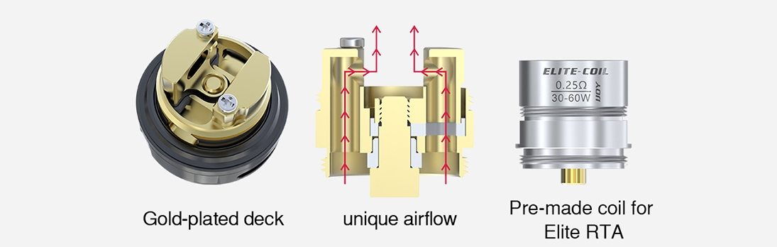 IJOY Elite Mini Kit Vape Tank Features unique airflow