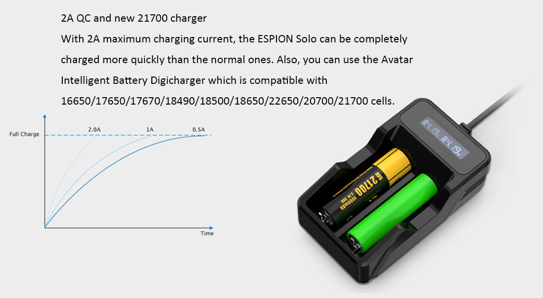 Joyetech ESPION Solo Mod Charging