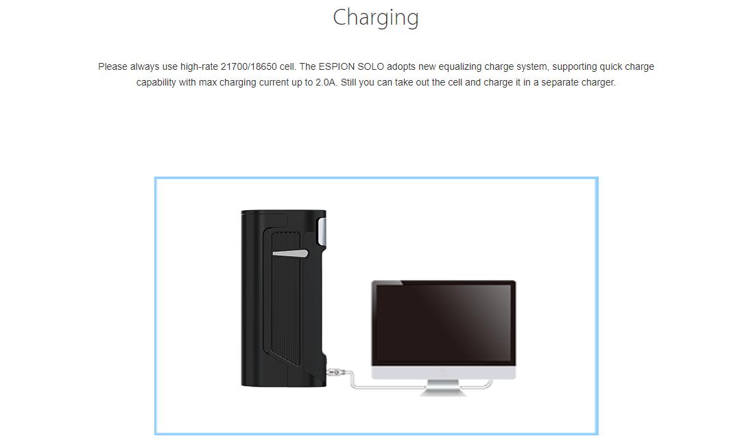 Joyetech ESPION Solo Mod Charging System