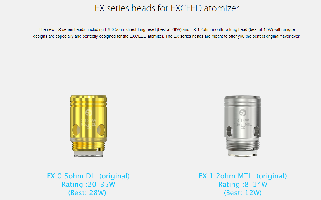 Joyetech EXCEED D19 Atomizer Coil Head