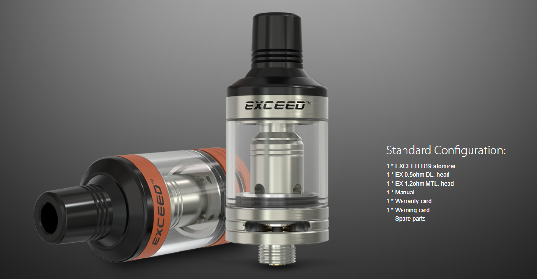 Joyetech EXCEED D19 Atomizer Packing List