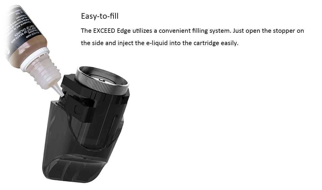 Joyetech EXCEED Edge Cartridge Filling