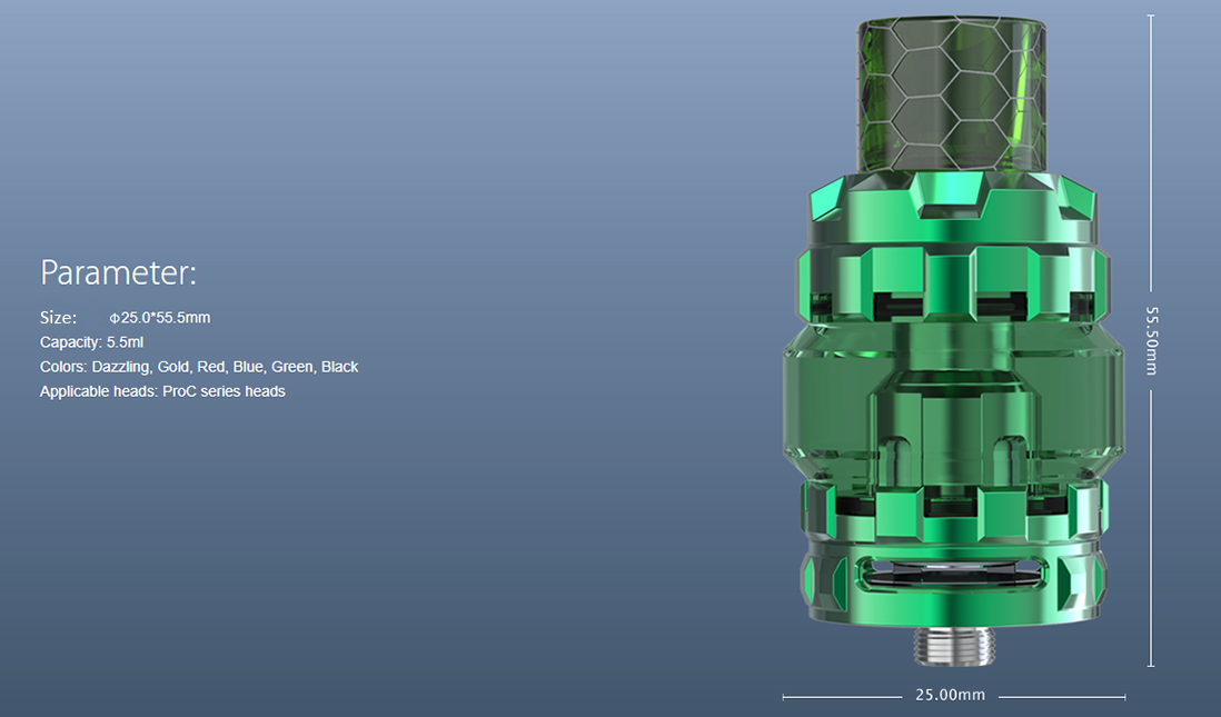 Joyetech ProCore Conquer Atomizer Parameters