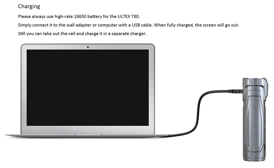 Joyetech ULTEX T80 Mod Charging