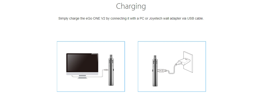 Joyetech eGo One V2 Kit Charging