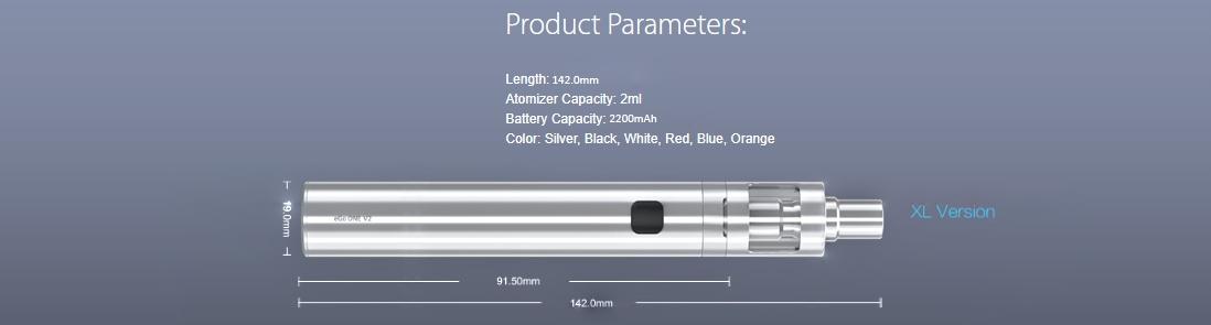 Joyetech eGo One V2 XL Kit Parameters