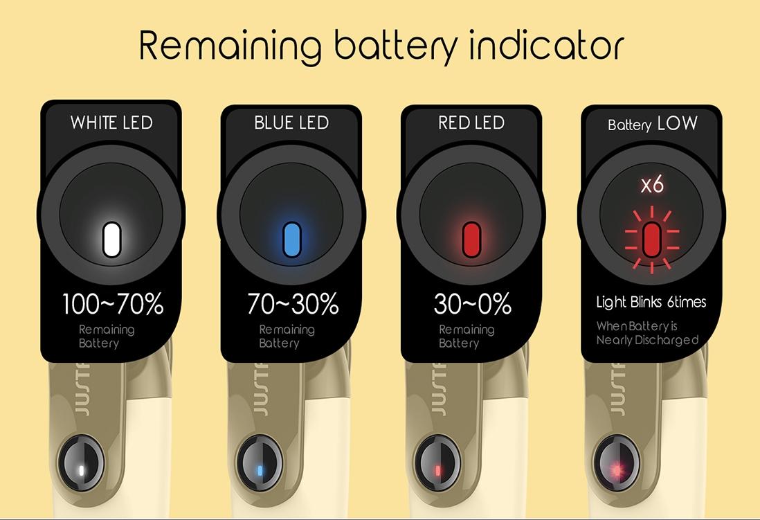 Justfog C601 All-in-one Starter Kit Battery Indicator