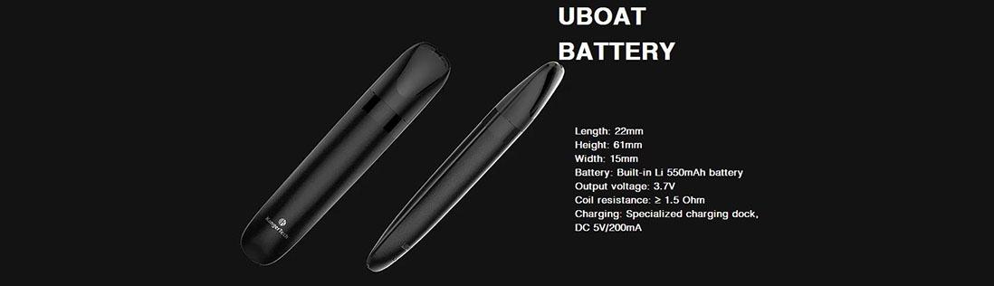 Kanger Uboat Mod Battery Parameter