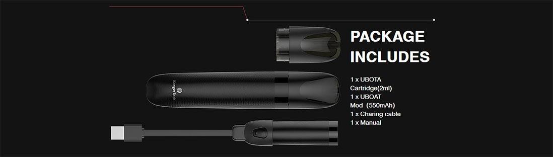 Kanger UBOAT All-in-one Pod Kit Package List