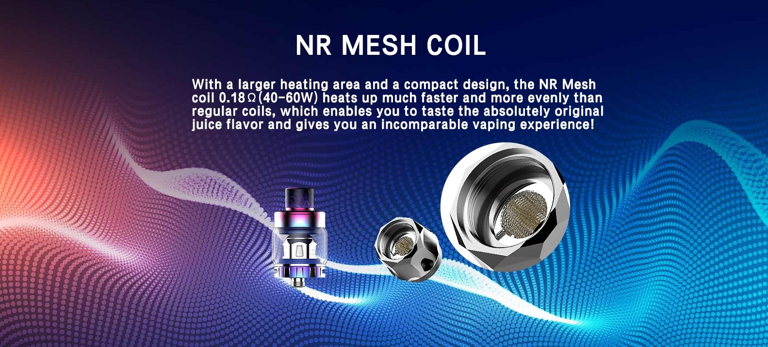 Kanger XLUM Kit Features NR mesh coil