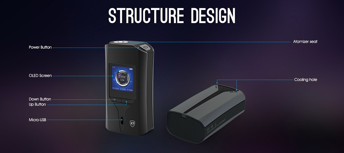 Laisimo X7 Wyvern 235W Mod Structure