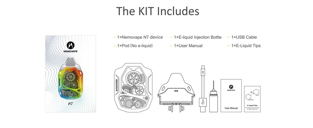 Nemovape N7 Pod Starter Kit Package
