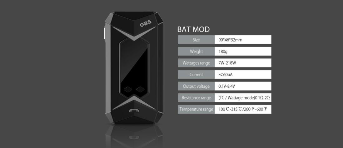 OBS BAT 218W Mod Parameters