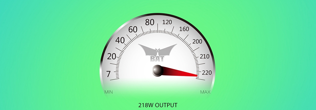 OBS BAT 218W Mod output