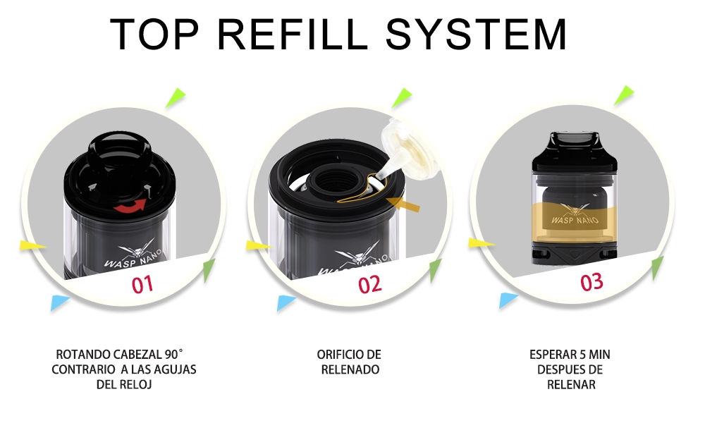 Oumier Wasp Nano RTA Top Refill System